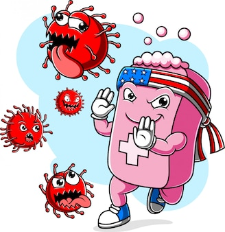 Zeepbestrijding coronavirus covid 19