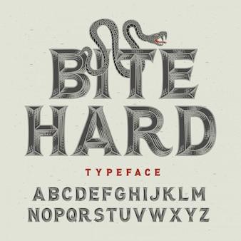 Zeer fijne tekeningen vintage lettertype