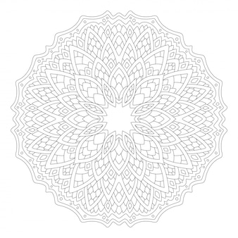 Zeer fijne tekeningen voor kleurboek met rond patroon