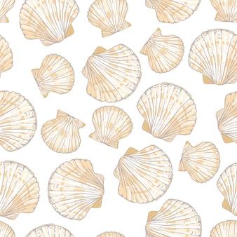 Zeeschelp naadloos patroon