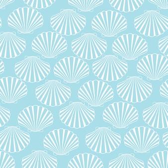 Zeeschelp naadloos patroon.