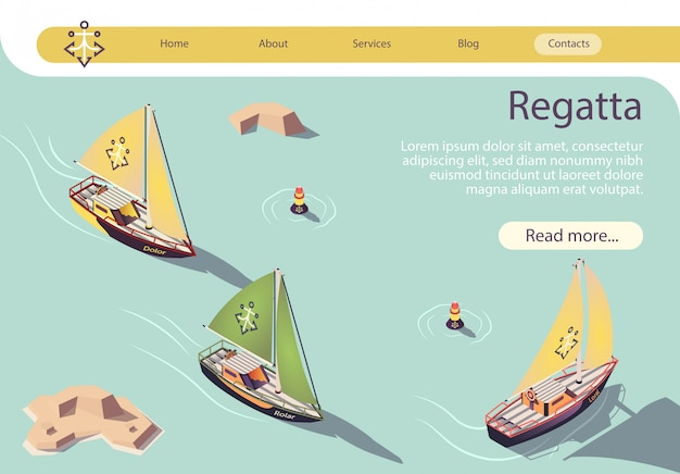Zeevaart regatta banner met zeilboot