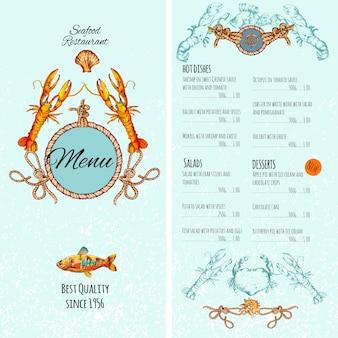 Zeevruchten menusjabloon