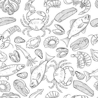 Zeevruchten naadloos patroon.