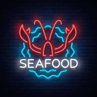 Zeevruchten neon logo