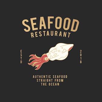 Zeevruchten restaurant illustratie