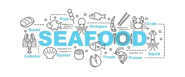 Zeevruchten vector banner
