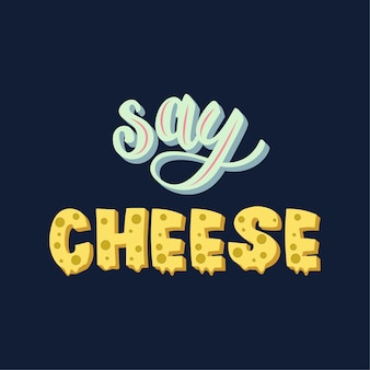 Zeg kaas belettering