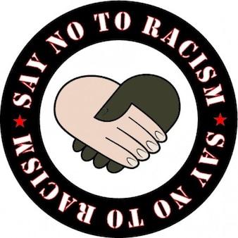 Zeg nee afbeelding racisme sticker aan