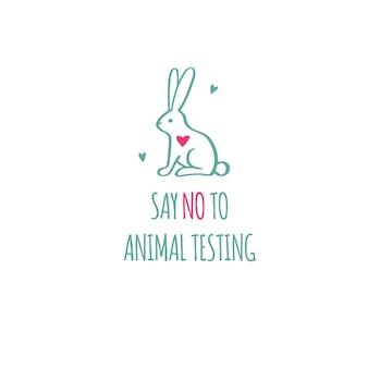 Zeg nee tegen dierproeven, wreedheidvrije conceptuele illustratie