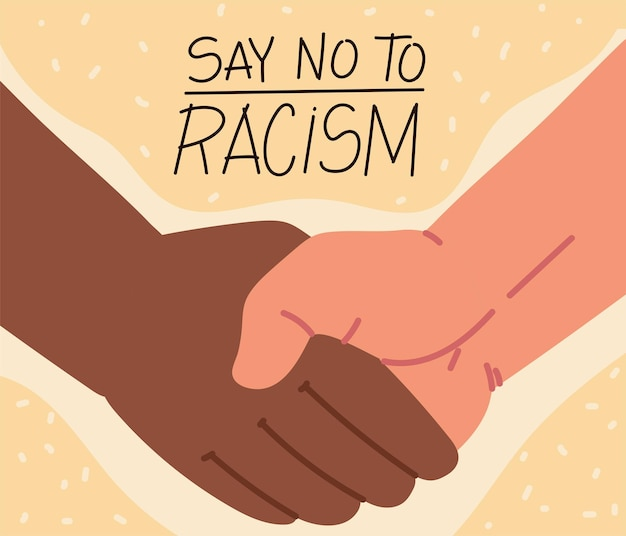 Zeg nee tegen racisme handdruk