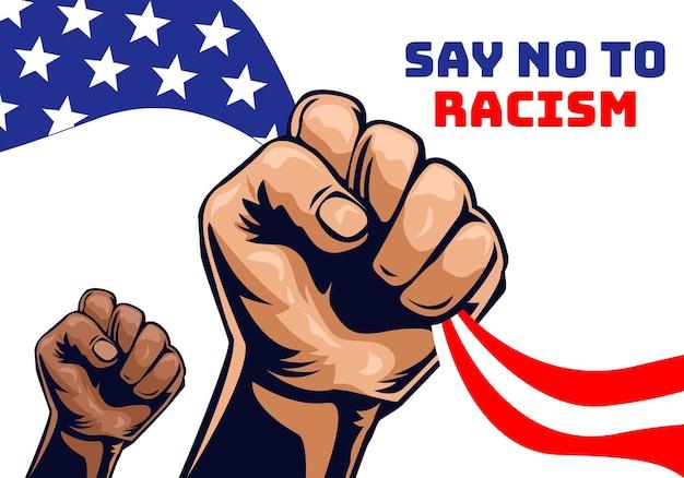 Zeg nee tegen racismecampagne