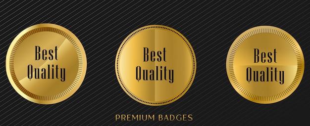 Zegel gouden etiketten premium set
