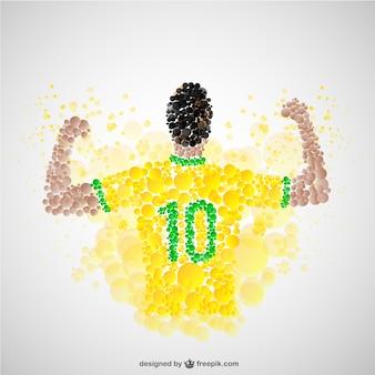 Zegevierende voetballer