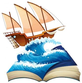 Zeilboot in de oceaan
