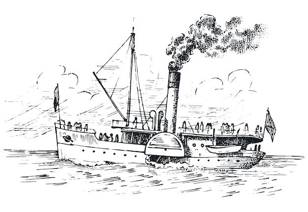 Zeilboot in de zee, zomeravontuur, actieve vakantie. zeeschip, zee- of nautisch schip.