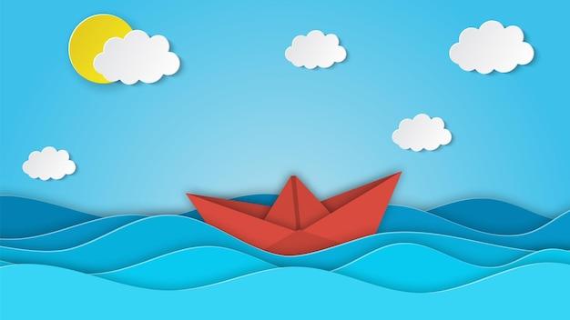 Zeilboot in de zee.