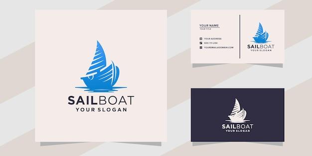 Zeilboot logo sjabloon
