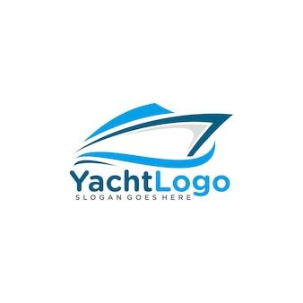 Zeilen, jacht logo sjabloon