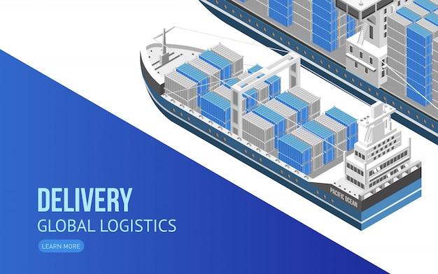 Zeilschip voor wereldwijde logistiek