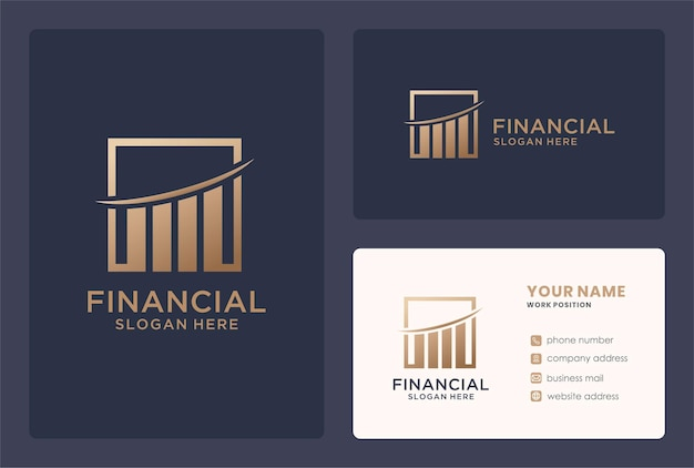 Zeker plus financieel logo-ontwerp in gouden kleur.