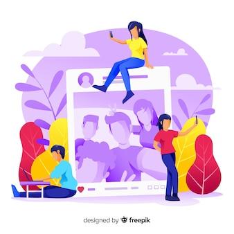 Zelffoto concept voor webpagina