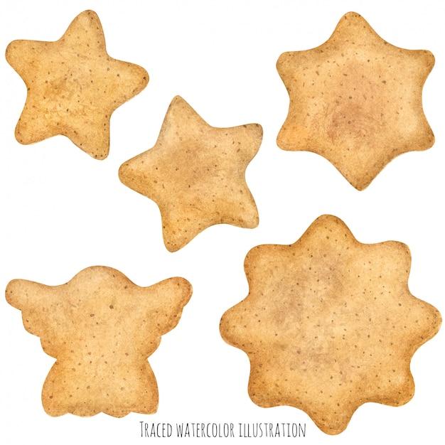 Zelfgemaakte suiker gember koekjes