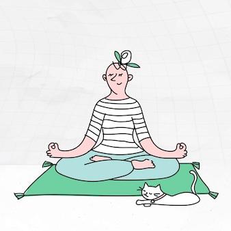 Zelfisolatie doodle