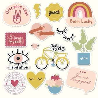 Zelflozende stickers