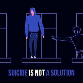 Zelfmoord geestesziekte stoornis preventie concept