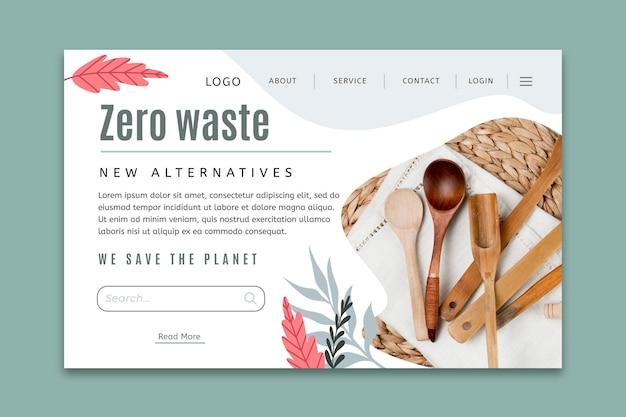Zero waste-bestemmingspagina-sjabloon