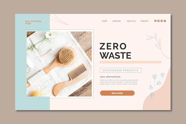 Zero waste bestemmingspagina