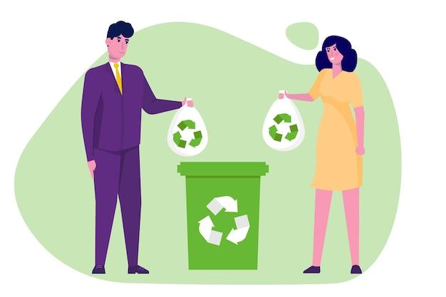 Zero waste-concept in plat ontwerp