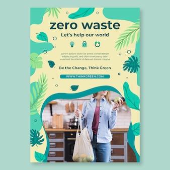 Zero waste flyer ontwerpsjabloon