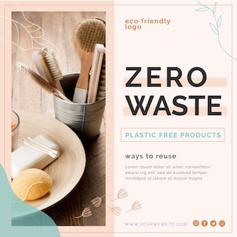 Zero waste flyer-sjabloon