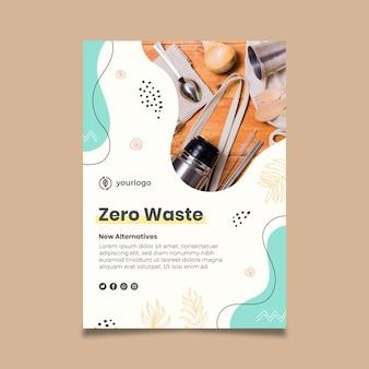 Zero waste flyer-sjabloon Gratis Vector