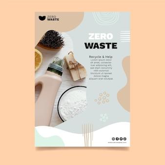 Zero waste flyer-sjabloon