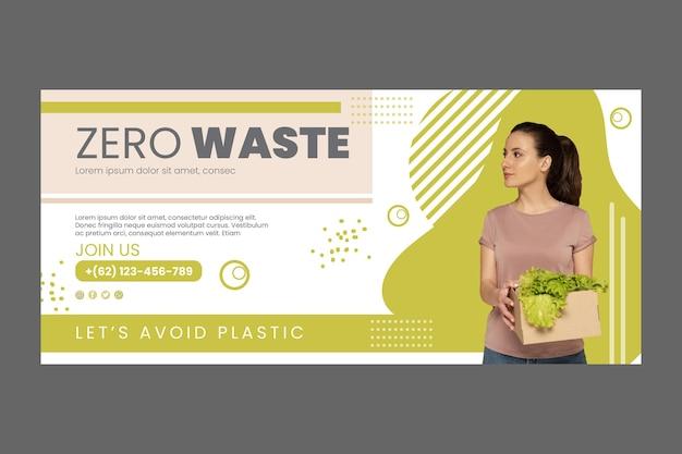 Zero waste horizontale banner sjabloon