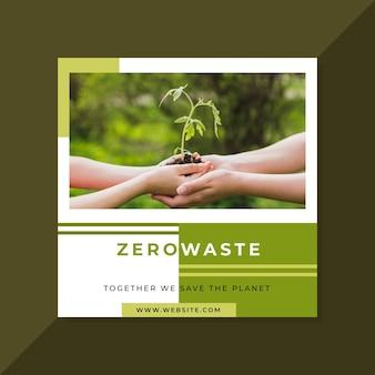 Zero waste instagram post