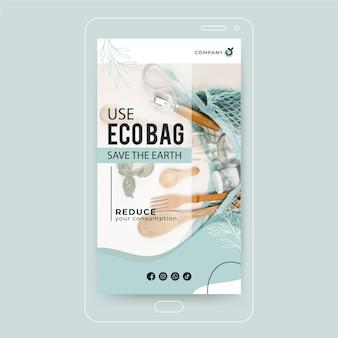 Zero waste instagramverhaal Gratis Vector