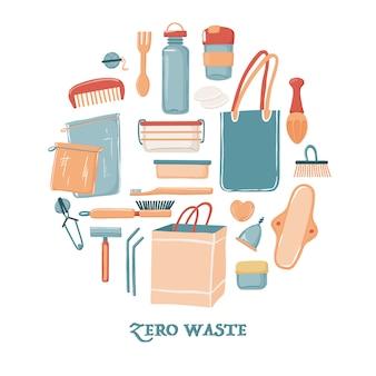Zero waste-objecten voor vrouwen in ronde vorm