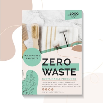 Zero waste poster sjabloon