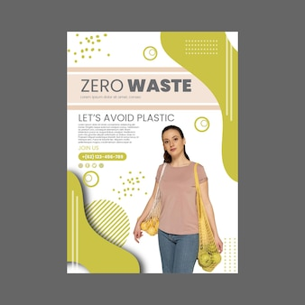 Zero waste poster sjabloon