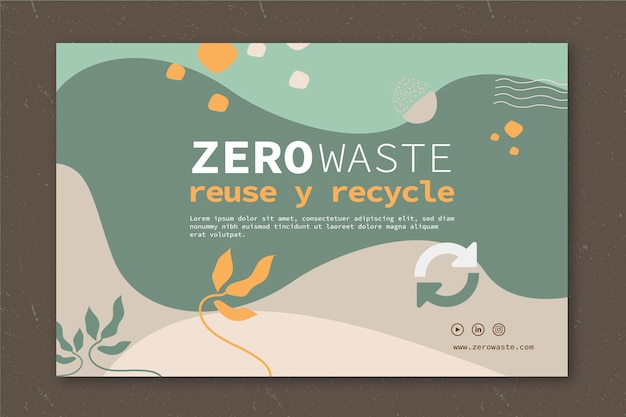 Zero waste sjabloon banner