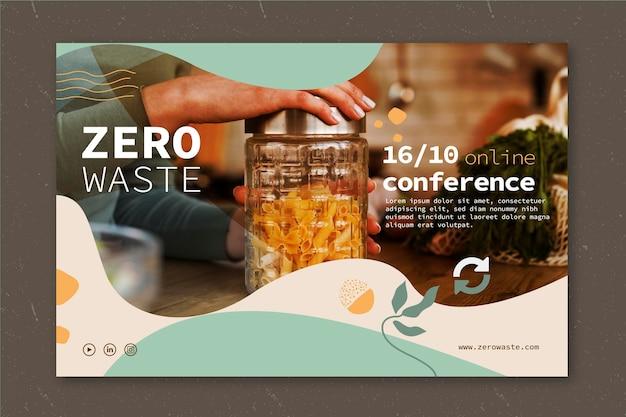 Zero waste-sjabloon voor spandoek