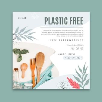 Zero waste squared flyer-sjabloon
