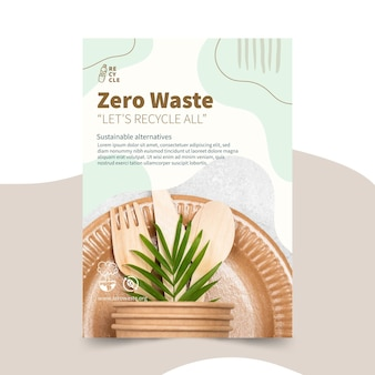 Zero waste verticale flyer-sjabloon