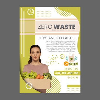 Zero waste verticale flyer-sjabloon