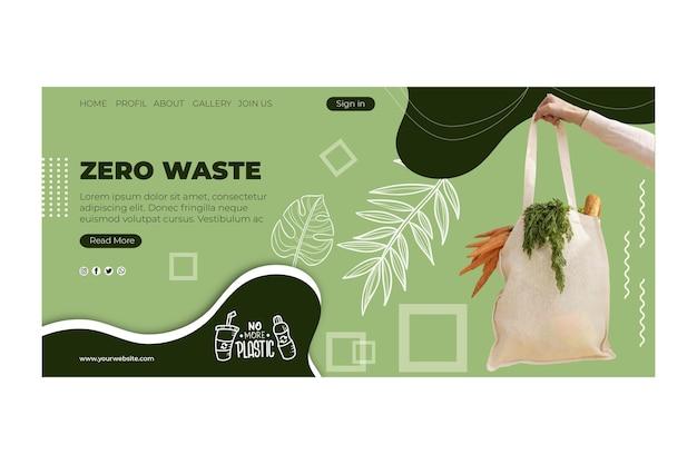 Zero waste websjabloon