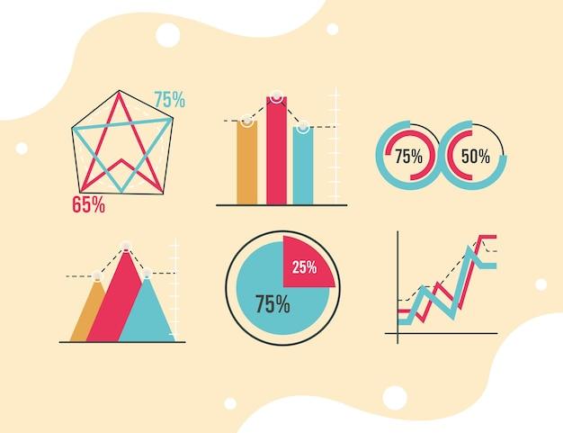 Zes infographics-statistieken
